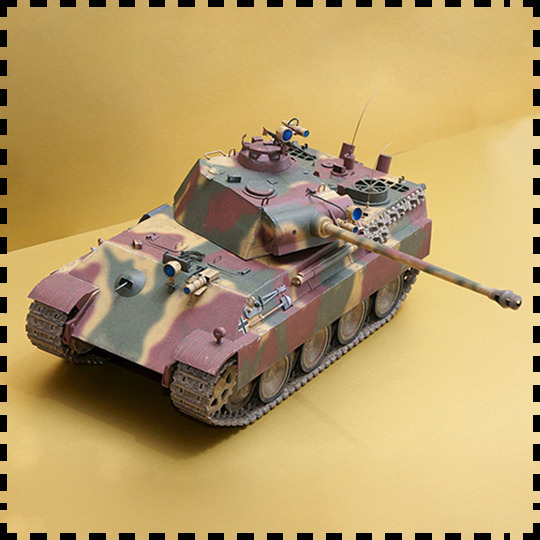 1:25 Scale WW2 Germany Panzerkampfwagen V Panther Sd.Kfz. 171 Tank Paper Model Handmade Toy Puzzles 1