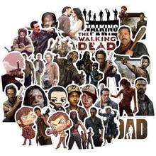 50pcs The Walking Dead Cartoon Stickers TV Series For Luggage Car Laptop Notebook Decal Fridge Skateboard Sticker F3