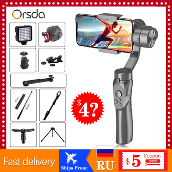 Orsda 3 Axis Handheld smart Gimbal Stabilizer for Smartphone Action camera Video Record tik Youtube tiktok tok Vlog Live feiyu fy spg live 3 axis brushless handheld gimbal stabilizer for gopro5 iphone smartphone