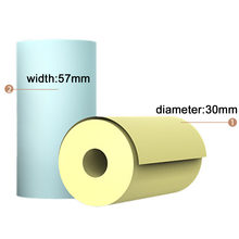6 рулонов термобумаги рулон 57*30 мм прозрачная печать для peripage