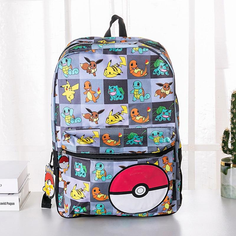 Anime Bag Pokemon Go Backpack Canvas Pikachu Schoolbag Boys Girl Teenagers Poke Schoolbag Rucksack Men Women Mochilas Travel Bag