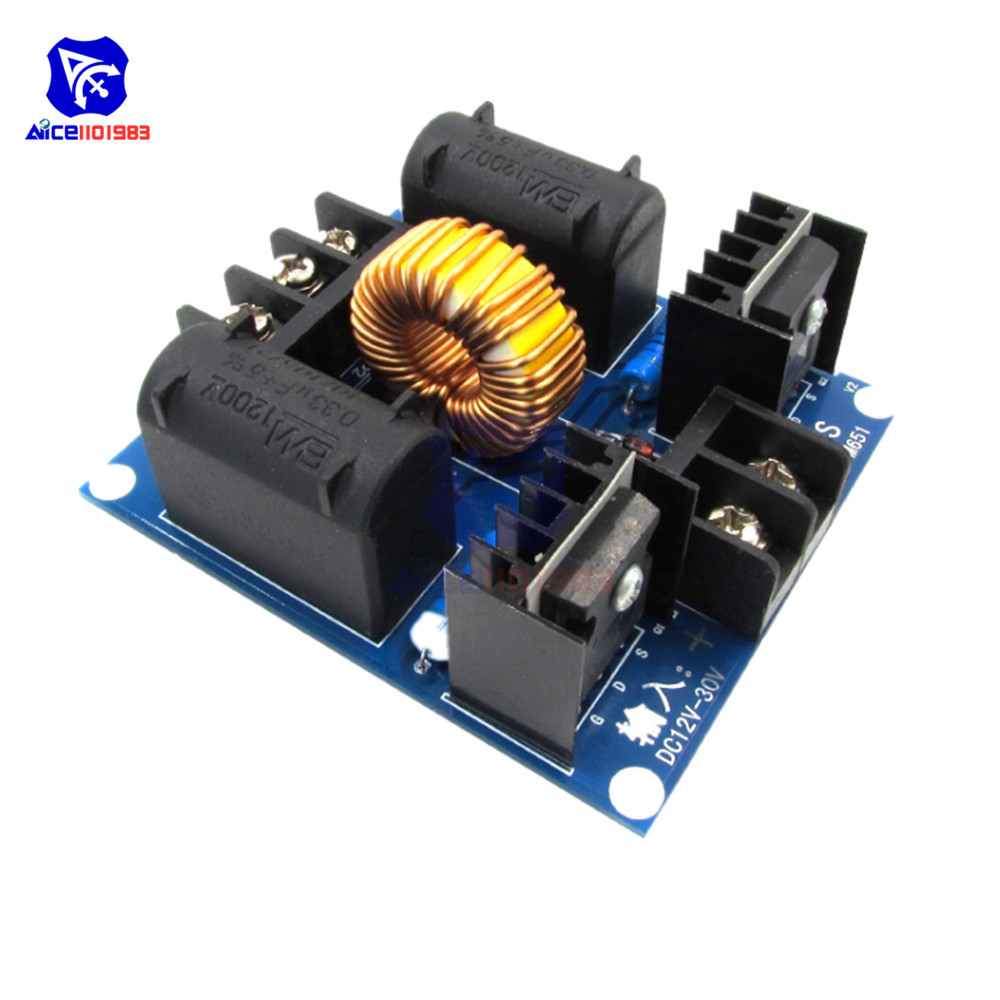 ZVS Tesla Coil Marx Generator <font><b>DC</b></font> 12V <font><b>30V</b></font> 20A 1000W High Voltage Flyback Driver Board Power Supply Boost Induction Heating Module image