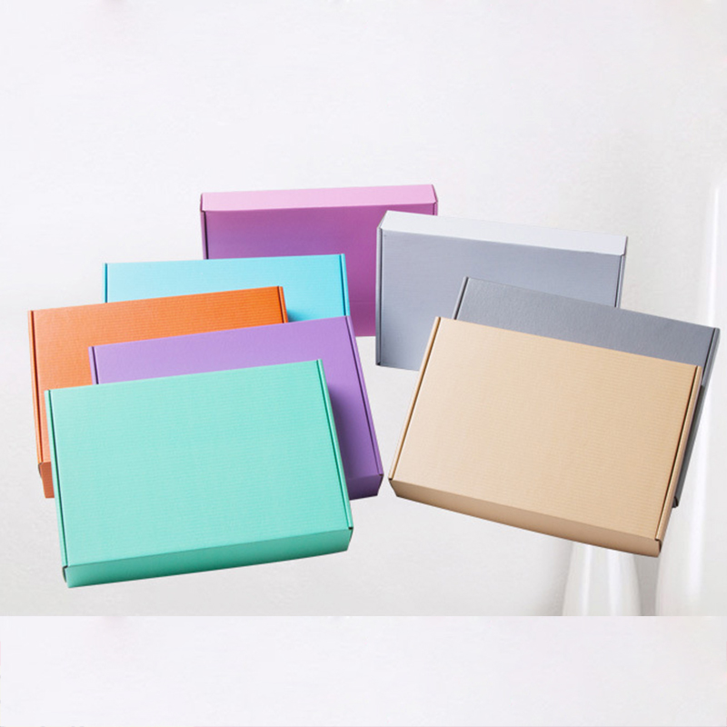 10Pcs Color Corrugated Paper Box 3 Layer Small Courier Box Jewelry Express Boxes Kraft Gift Packaging Box Logistics Supplies