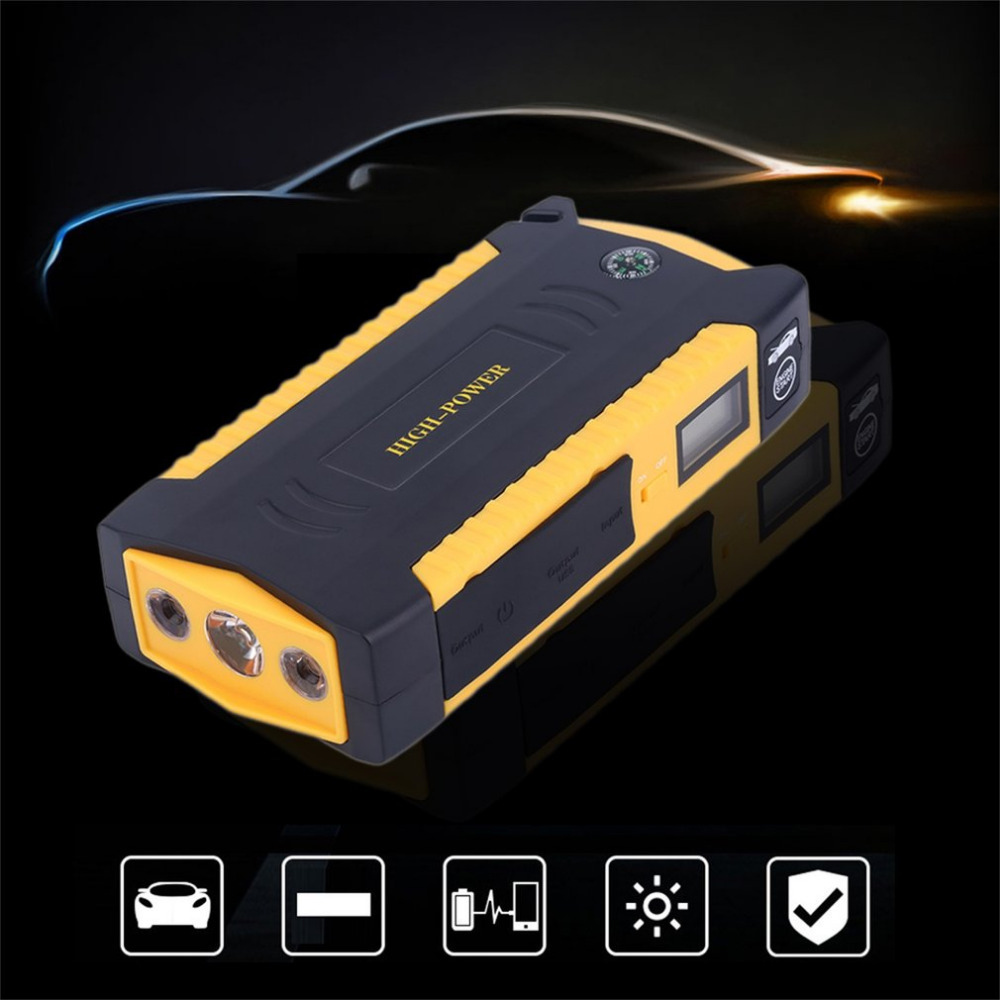 Portable 4USB jump staeter Port LCD Display Car Vehicle Auto Jump Starter Emergency Charger Booster Power Bank Battery Charger|Jump Starter| |  - title=