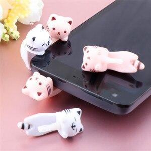 Universal Cute Cat Design Earphone Dust Plug 3.5mm AUX Jack Interface Dustproof Caps Cell Phone Accessories For iPhone11 XS