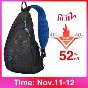 Image 1 - Mixi 2020 модный рюкзак для мужчин на одно плечо, нагрудная сумка, мужская сумка мессенджер для мальчиков, школьная сумка для учебы, повседневная черная 17 19 дюймов