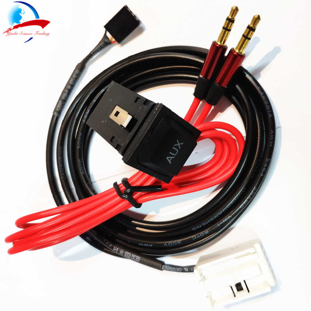 1pcs AUX Adapter Cable with 1 Switch Socket Car USB AUX Audio Cable Switch and Cable for RCD510 RCD310 MK5 MK6 5KD035724