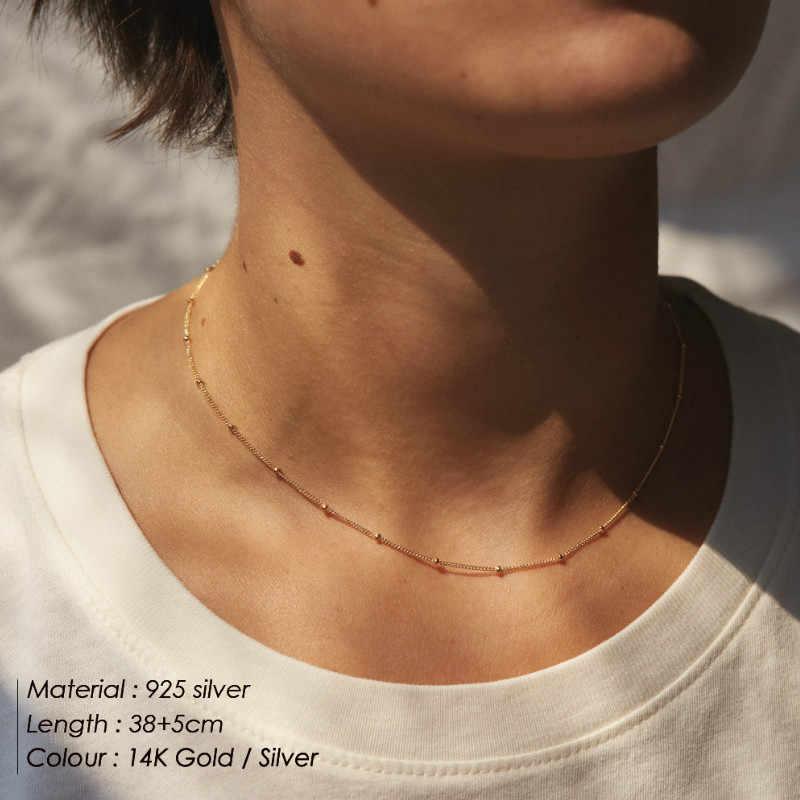 ファッションペンダントネックレスシンプルなクラ正方形銅ネックレスゴールドリボンジュエリー女性ネックレス Jewlery