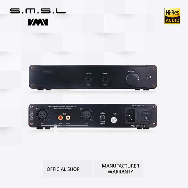 SMSL VA1-HD HI-FI Power Audio Amplifier Desktop Headphone Amplifier 110V/220V Amplifier with Balanced Input For HD650 HD600 1