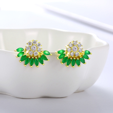 Wholesale Colorful Fashion Stud Earring For women Geometric Gift lady Jewelry wedding party Rhinestone girl Accessories