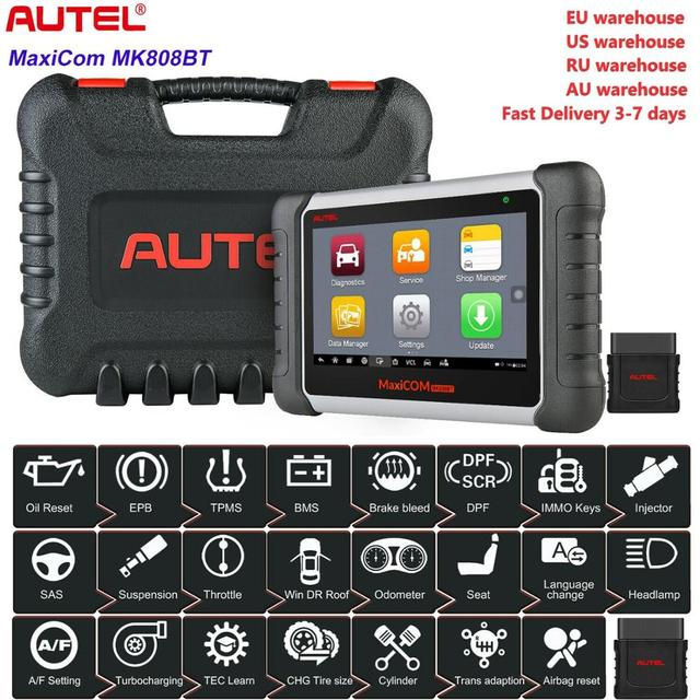 Autel MK808BT OBD2 Scanner Diagnostic Auto Tool OBD 2 Automotive Code Reader ODB2 Key Programmer Diagnosis Better To Launch X431