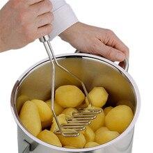 Нержавеющая сталь волновой формы Картофелемялка инструмент кухонный бар картофель дробилка кухонный помощник на продажу# B15