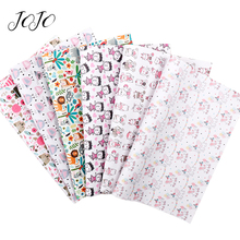 JOJO BOWS 22*30cm 1pc Faux Synthetic Leather Fabric For Needlework Animal Printed Sheet Bows DIY Craft Party Home Decoration