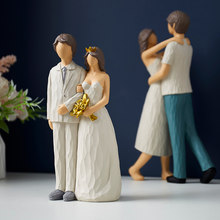 Nordic decoração personagem modelo estátua moderna casa sala de estar decorações estatuetas artesanato acessórios natal presente casamento