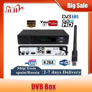 Image 1 - DVB T2 DVB T Empfänger HD Digital TV Tuner Rezeptor unterstützung Youtube MPEG4 DVB T2 H.264 Terrestrischen decoder Empfänger Set top Box