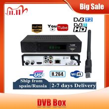DVB T2 DVB T HD Digital TV Tuner ReceptorสนับสนุนYoutube MPEG4 DVB T2 H.264 TerrestrialตัวรับสัญญาณถอดรหัสSet Top Box