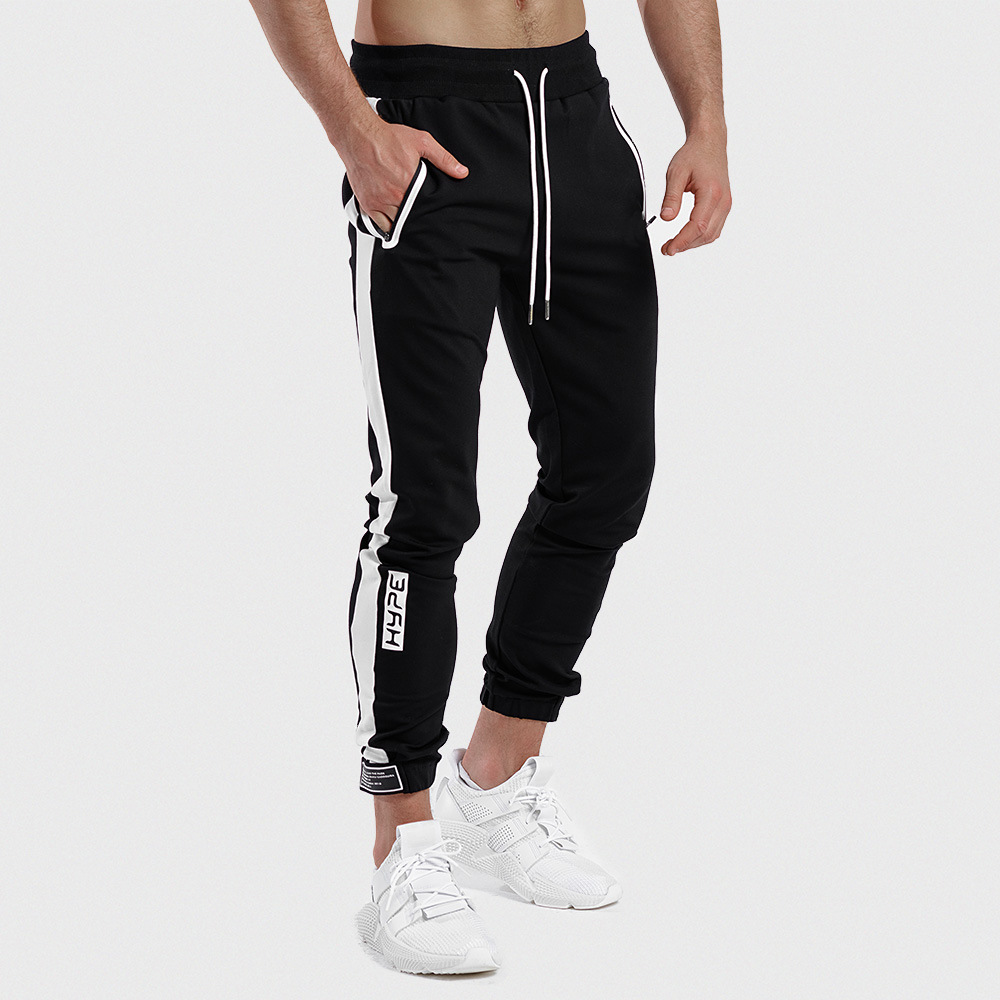 Men Pants Sweatpants Velcro Ankle Fashion Casual Sweat Pants Men Jogger Sports Streetwear