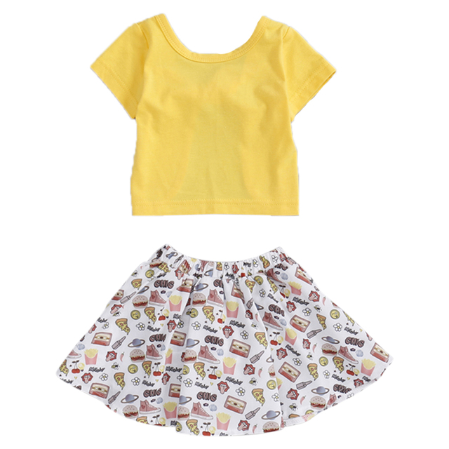 Summer Girls Clothes Sets Baby Girl Short Sleeve t-Shirt Top+Shorts Suits Kids Clothing Printed Children's Clothes 2pcs 1