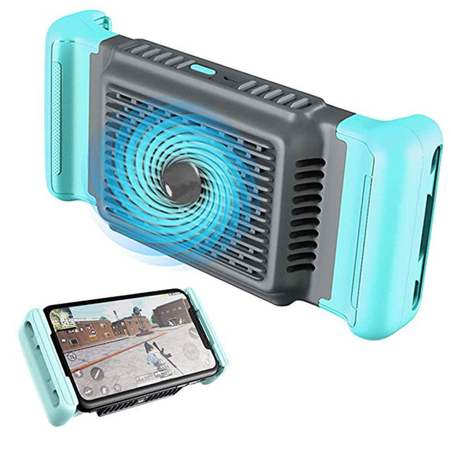 Mobile Phone Cooler Handheld Radiator Grip Support PUBG Phone Cooling Fan Holder Heatsink Stand For Gaming Live Broadcast