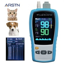 2.8 TFT LCD Veterinary Handheld Pulse Oximeter Home Heart Rate Monitor Pulsioximetro for Cat or Dog SPO2 PR Counter