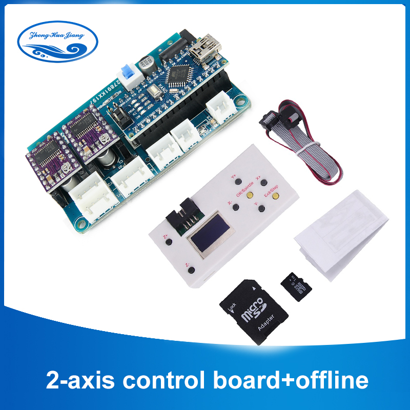 GRBL 1.1 2-axis Control Board DIY Laser Engraved Machine Micro 2 Axis Stepper Motor Drive Control Board With Offline Controller