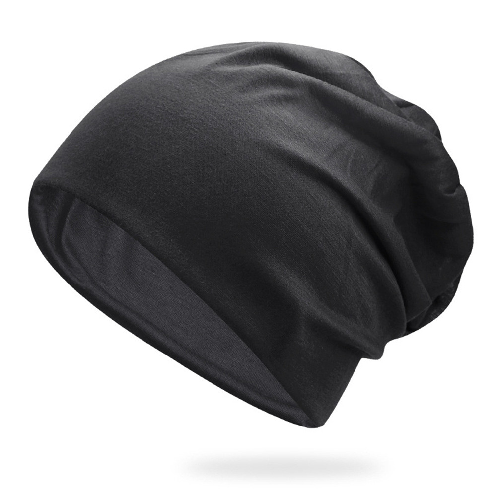 Women Men Stylish Beanie Hat Thin Hip-hop Soft Stretch Slouchy Skull Cap LL@17