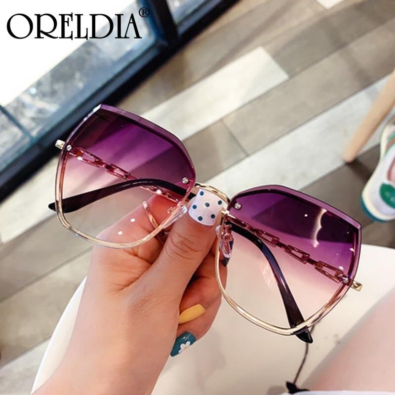 2020 neue Damen Rahmenlose Sonnenbrille UV400 Marke Designer Hohe Qualität Gradienten Sonnenbrille Mode Männer Und Frauen Polygon Gläser