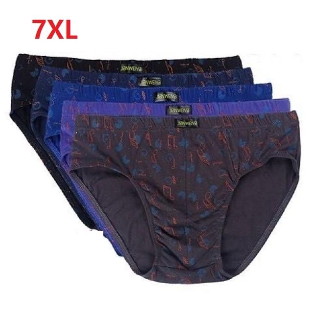 5pcs/lot 7XL 6XL 5XL 100% Cotton Men Briefs Comfortable Men Underwear Briefs Underpants Panties Male Male Underwear Comfortable