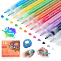 Acrylic Paint Markers 28 Color Pens Set 0.7mm Extra Fine Tip for Stones Glass Porcelain Canvas DIY Projects Quick Drying Art