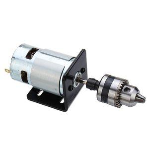 Image 3 - Mini perceuse à main avec mandrin et support de montage pour fraiseuse, moteur 775 10000 tr/min cc 12V, moteur 775 de presse à tour