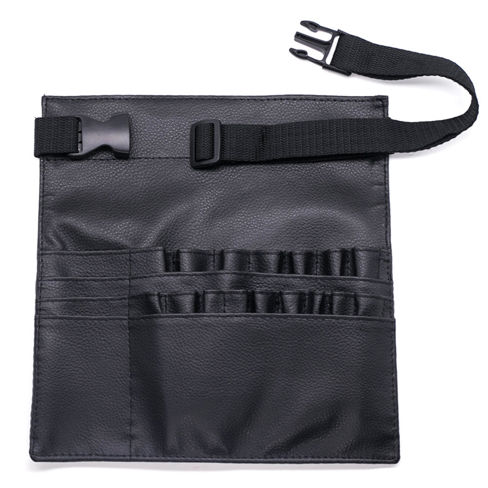 20 Pockets Professional Portable Display Waterproof Synthetic PU With Belt Storage Tool Waist Makeup Brush Bag Holder Organizer