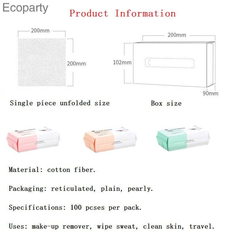 Washcloth Single Use Clean Face Towel Pure Cotton Non-Woven Fabrics Draw-Out Cotton Towel Thicken Wet And Dry 100PCS
