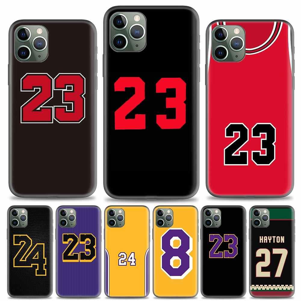 Kılıf Coque Apple iPhone 11 Pro MAX X XR XS Max 7 8 artı 7 + 8 + 6 6S artı 5 5S SE Fundas çapa basketbol numarası 23 24 Legend
