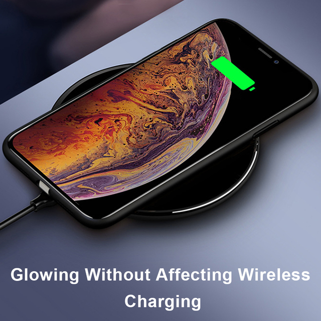 Phone Case For iphone11 /11 pro /11 pro Max Tempered Glass Craft Flash Sound Control Light Incoming Call Flash For iPhone Case 8