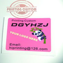 3 style --vinyl  sticker printing for glossy laminated