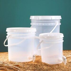 Image 5 - Huishoudelijke Plastic Emmer Voor Wijn Gisting Lekvrij Container Bier Vergister Bpa Gratis 5L 10L