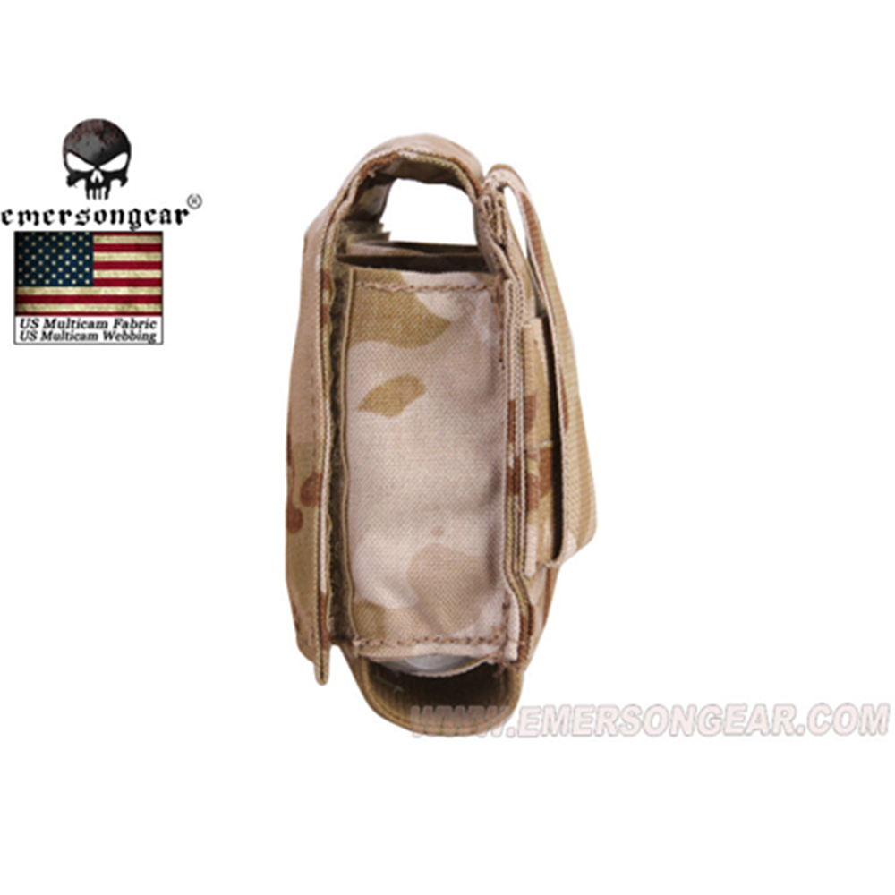 Image 5 - emersongear Emerson Tactical Double 40mm Grenade Pouch 9mm MOLLE Magazine Pouch Holder Carrier Ammo Bag airsoft pouch-in Pouches from Sports & Entertainment