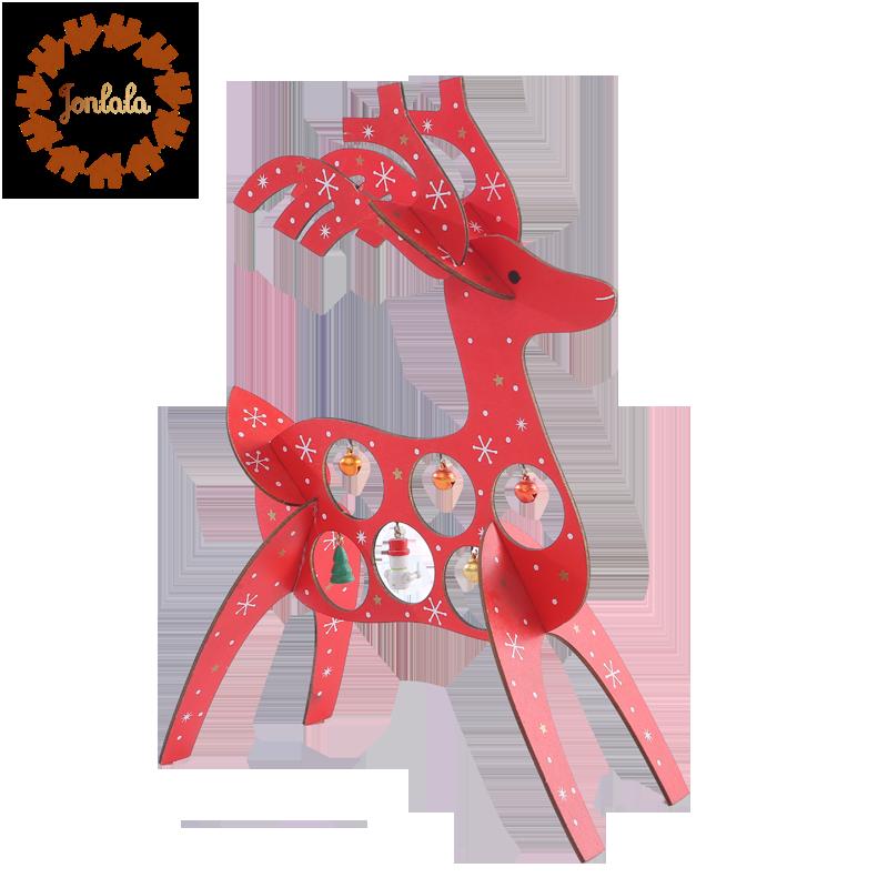 Arti Stuffed Deer Head Model Toy Faux Fur Animal Home Ornament Gifts