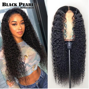 Black pearl 150% Lace Front Human Hair Wigs 13X4 Pre Plucked Remy Brazilian kinky curly Lace Frontal Wigs For Black Women