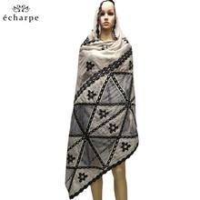 新ファッションデザインイスラム教徒のスカーフとロングスカーフタイプ幾何学的デザインスカーフメイド純粋な綿と快適な EC108