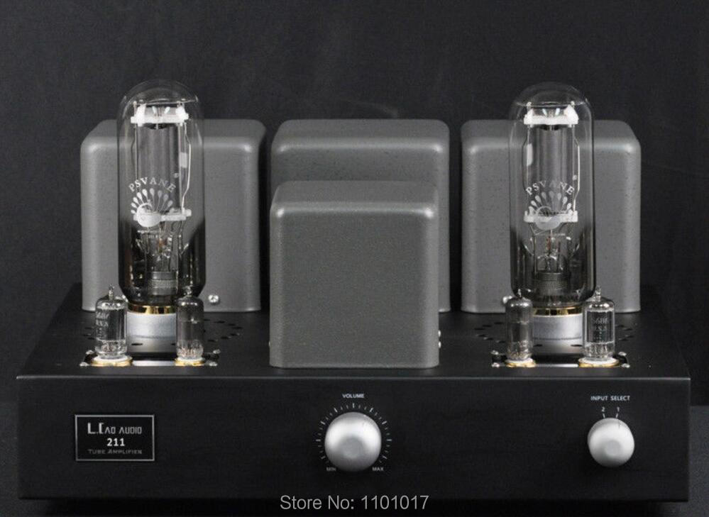 Laocao LC-600 <font><b>211</b></font> Rohr Verstärker HIFI EXQUIS Single-Ended Class A Vakuum Lampe Amp 20W * 2 image