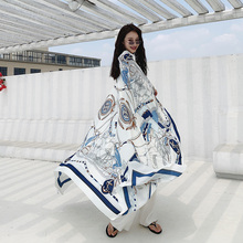 LISM 2020 hot sale beach towel seaside scarves wild oversized holiday travel summer shawl dual-use scarf