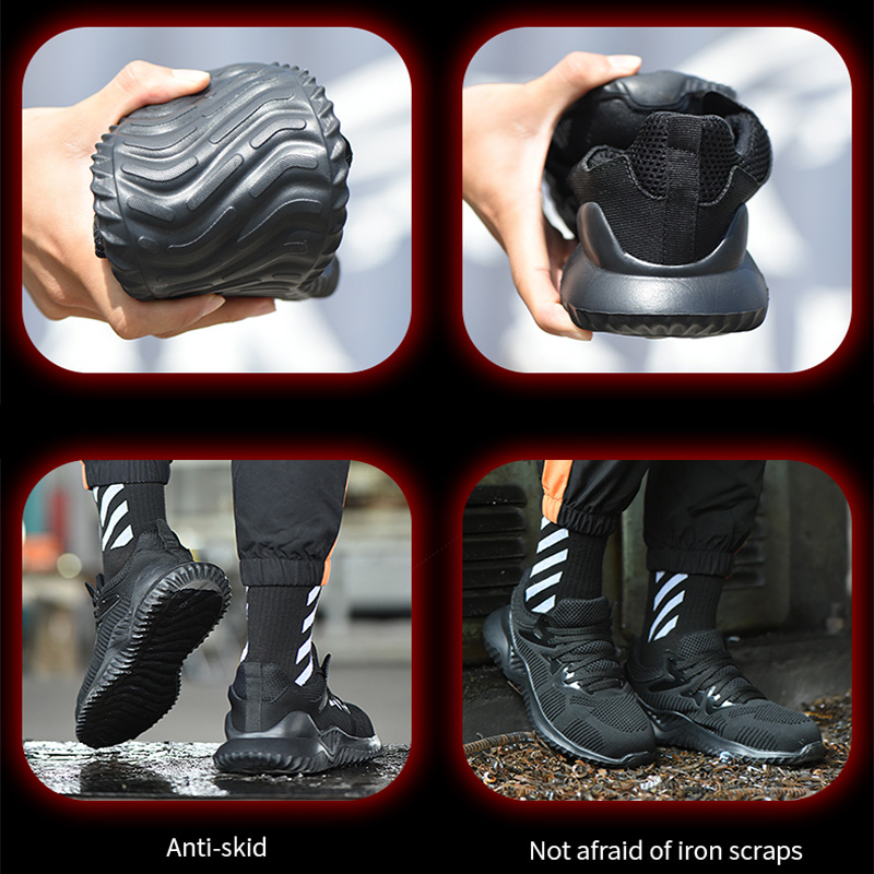 Image 4 - JACKSHIBO Men Safety Work Shoes Boots Male Autumn Steel Toe Boots Anti Smashing Protective Construction Safety Work SneakersWork & Safety Boots   -