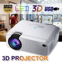 D40W светодиодный мини проектор видео проектор для домашнего Кино 1600 люмен Поддержка HD Беспроводной синхронизации Дисплей для iPhone/Android телефон