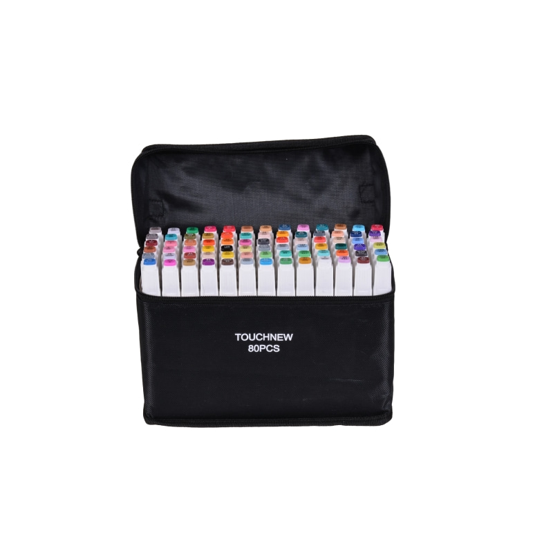 TouchFIVE 60/80/168 Colors Art Markers Set Sketch Marker Dual Head Drawing Art Brush Pens For Artist Drawing