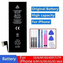 Новый 100% AAA класс 3250 мАч аккумулятор телефона для iPhone 5S SE, 6, 6S, 6P 6SP Замена литий-ионный аккумулятор для iPhone 7 8 Plus X XS XR XS Max