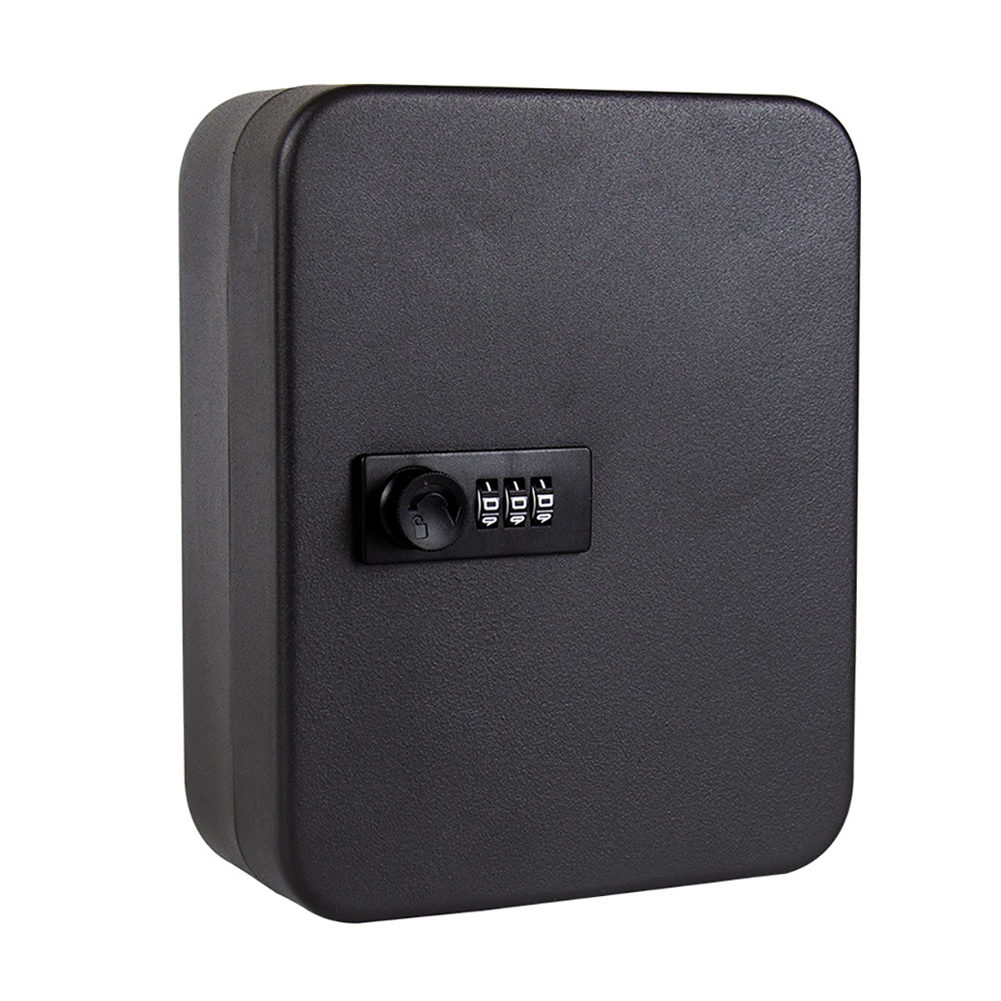 Resettable Code Password Storage Cabinet Metal Lockable Car Wall Mounted Combination Lock Indoor Outdoor Office Key Safe Box