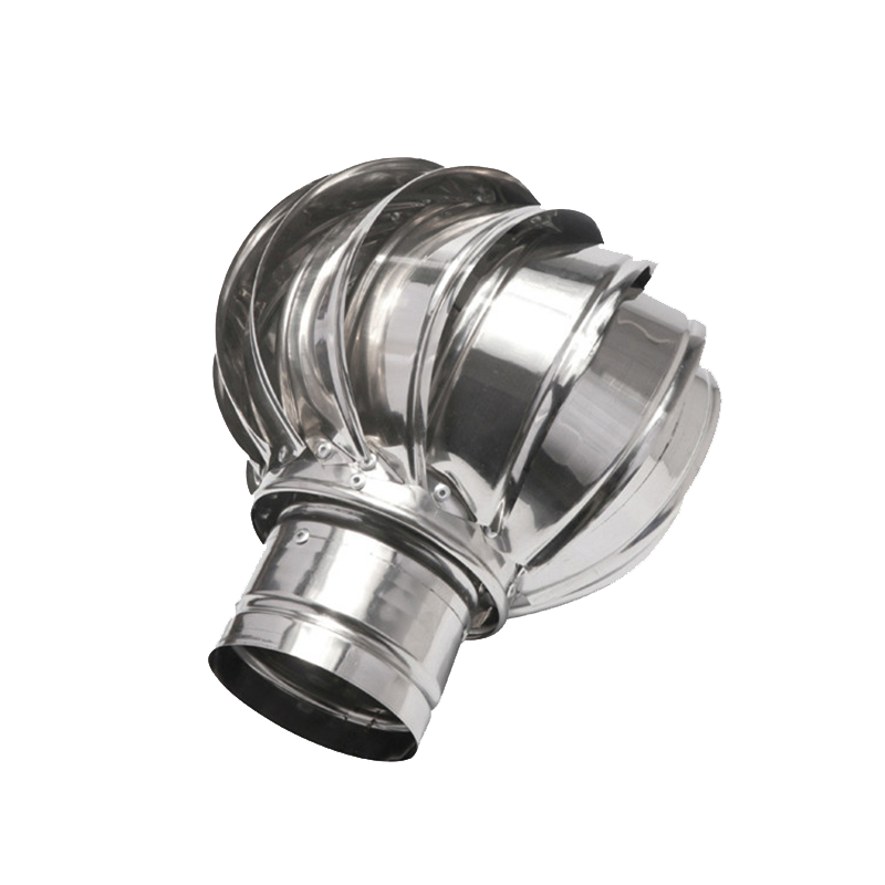 Stainless steel rotating chimney cowl cap spinner anti-downdraught 100/150 mm pipefit roof ventilating fan without power
