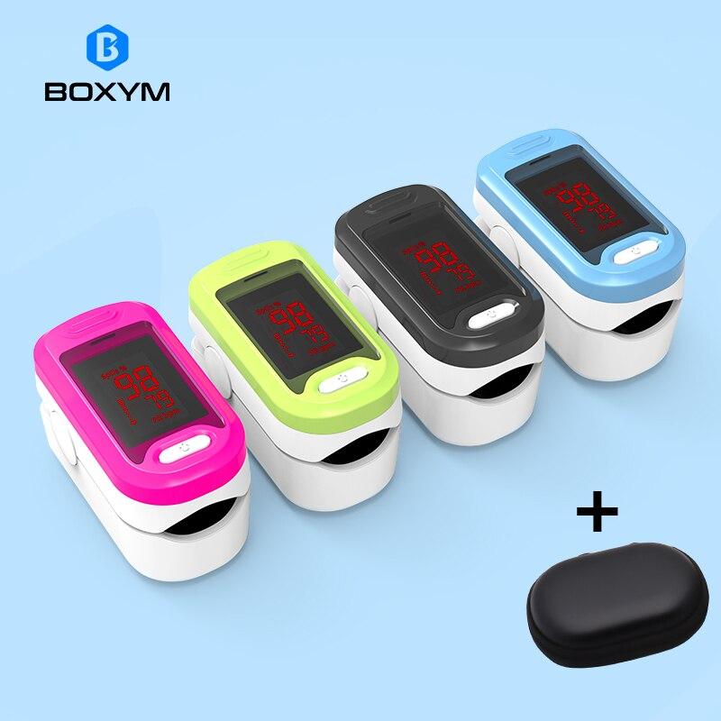 BOXYM Medical LED Fingertip Pulse Oximeter Blood Oxygen Saturation Heart Rate Monitor SpO2 Health Monitors Oximetro De Pulso