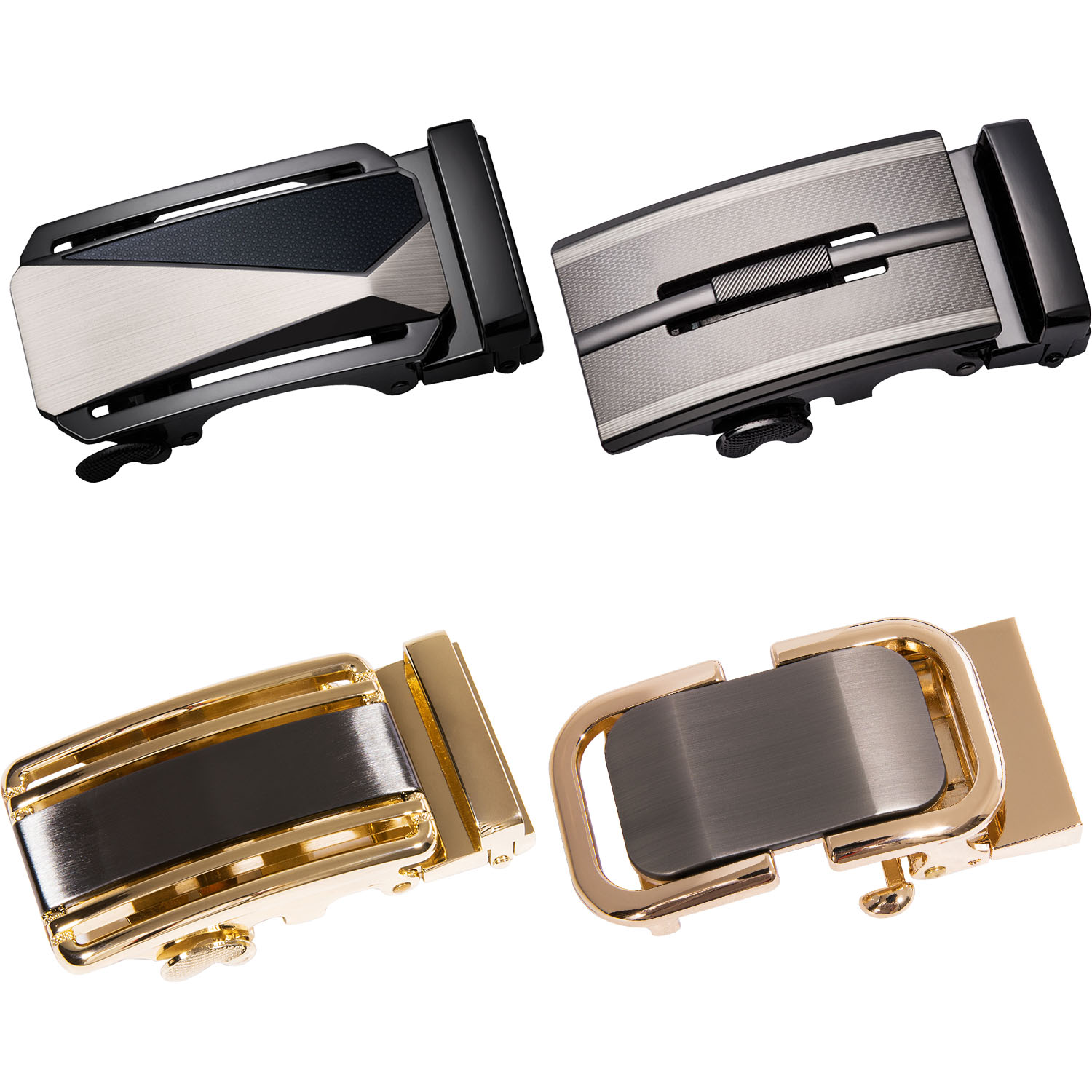 Fashion Men's Business Alloy Automatic Buckle For 3.5cm Ratchet Slide Buckle Replacement Belt Head Belt Accessories DiBanGu
